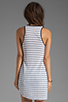 Image 2 of Monrow Stripe Rayon Tank in White