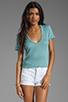 Image 1 of MONROW Baby Heather Tissue V-Neck in Spearmint