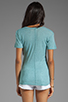 Image 2 of MONROW Baby Heather Tissue V-Neck in Spearmint
