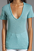 Image 3 of MONROW Baby Heather Tissue V-Neck in Spearmint