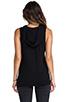 Image 3 of Monrow Sleeveless Hoody in Black
