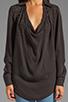 Image 3 of Haute Hippie Embellished Blouse in Asphalt