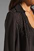 Image 4 of Haute Hippie Embellished Blouse in Asphalt