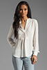 Image 1 of Haute Hippie Lace Detailed Blouse in Swan