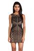 Image 1 of heartLoom Wilson Mixed Lace Dress in Black