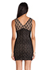 Image 3 of heartLoom Wilson Mixed Lace Dress in Black