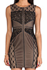 Image 5 of heartLoom Wilson Mixed Lace Dress in Black