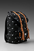 Image 3 of Herschel Supply Co. Invitational Collection Little America Cordura Backpack in Black/White Embroidery
