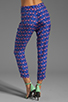 Image 3 of harlyn Peg Leg Trouser in Flamingo Print