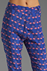 Image 4 of harlyn Peg Leg Trouser in Flamingo Print