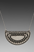 Image 2 of House of Harlow Tuareg Granulation Necklace in Antique Silver