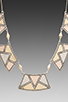 Image 2 of House of Harlow Sancai Collar Necklace in Tri-tone