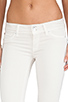 Image 4 of Hudson Jeans Ginny Crop Straight with Cuff in Shell