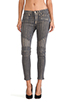 Image 1 of Hudson Jeans Moto Striped Skinny in Grey/Gold