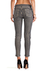 Image 3 of Hudson Jeans Moto Striped Skinny in Grey/Gold