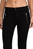 Image 4 of Hudson Jeans Charlotte Moto Skinny in Black