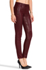 Image 2 of Hudson Jeans Stark Moto in Crimson Wax