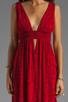 Image 4 of Indah Anjeli Empire Maxi Dress in Antik Red