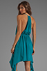 Image 1 of Indah Rinjani Draped Back Sundress in Turquoise
