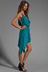 Image 3 of Indah Rinjani Draped Back Sundress in Turquoise