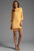Image 2 of Indah Bridgette Long Sleeve Shift Mini Dress in Gold