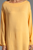 Image 5 of Indah Bridgette Long Sleeve Shift Mini Dress in Gold
