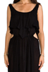 Image 4 of Indah Zanzibar Flounce Cut Out Maxi Dress in Black