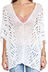 Image 4 of Indah Mancora Crochet Pancho in White