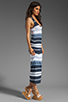 Image 3 of James Perse Pacific Stripe Racerback Dress in Navy/White