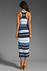 Image 4 of James Perse Pacific Stripe Racerback Dress in Navy/White