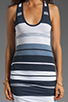Image 5 of James Perse Pacific Stripe Racerback Dress in Navy/White