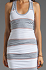Image 5 of James Perse Coastal Stripe Tank Dress in Heather Grey/White