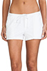 Image 4 of James Perse Pintucked Twill Short in White