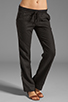 Image 1 of James Perse Tailored Linen Pant in Black