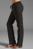 Image 2 of James Perse Tailored Linen Pant in Black