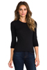 Image 1 of James Perse Long Sleeve Crew Neck in Black