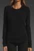 Image 2 of James Perse Long Sleeve Crew Neck in Black