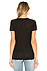 Image 3 of James Perse Casual V Neck Tee with Reverse Binding in Black