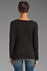 Image 2 of James Perse Lightweight Terry Cowl Neck Top in Black