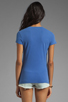 Image 2 of James Perse Short Sleeve Relaxed V-Neck Tee in Bluebell