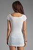 Image 2 of James Perse Bare Shoulder T in White
