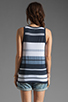 Image 2 of James Perse Pacific Stripe Boxy Tank in Navy/White