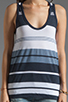 Image 3 of James Perse Pacific Stripe Boxy Tank in Navy/White