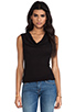Image 1 of James Perse Woven Cowl Tank in Black