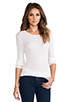 Image 1 of James Perse Cashmere Rib Long Sleeve Crew in White