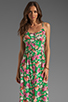 Image 1 of JARLO Vanessa Floral Maxi Dress in Green