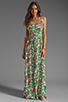 Image 2 of JARLO Vanessa Floral Maxi Dress in Green