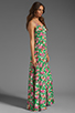 Image 3 of JARLO Vanessa Floral Maxi Dress in Green
