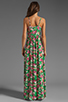 Image 4 of JARLO Vanessa Floral Maxi Dress in Green