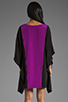 Image 4 of Jay Godfrey Hardee Kimono Dress in Black/Dahlia